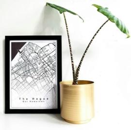 Lijntekening plattegrond - Doorlopend eigen tekst