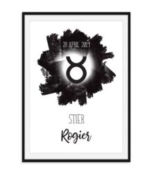 Sterrenbeeld poster met naam en datum