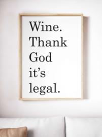 Wine thank god - Poster
