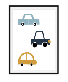 Drie auto's - Poster