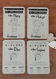 Thuiswerk Diploma met naam