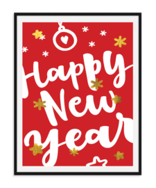 Happy New Year - Poster Kerst
