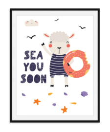 Sea you soon - Zomerse poster