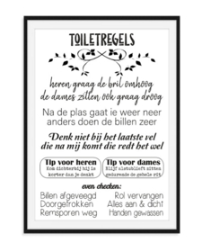 Toiletregels - Hippe Poster