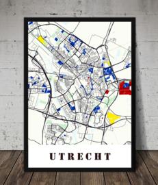 Plattegrond Stad / dorp in Mondriaan stijl