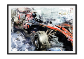 Formule1 auto Poster - Speed to the limit