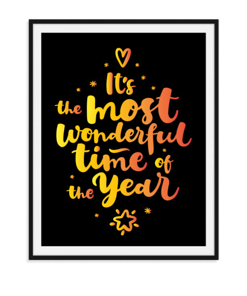 Most wonderful time - Poster Kerst
