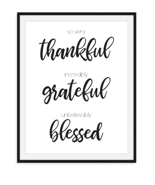 Thankful Grateful Blessed - Poster