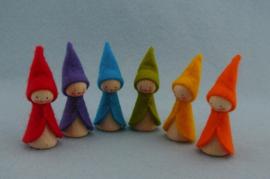 zes regenboog kabouters
