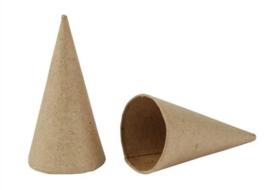 Kegel Papier Maché H8cm 4cm
