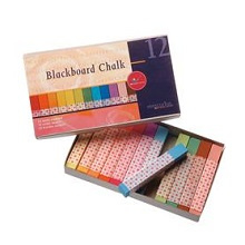 Bord krijt - blackboard chalk in 12 kleuren