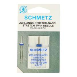 Schmetz tweelingnaald 4.0/75 stretch
