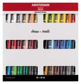 Amsterdam Acryl set 36 tubes 20 ml