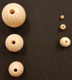 Naturel houten kraal 8 mm, 25 stuks