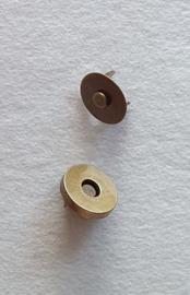 Magnetische sluiting Brons 18mm