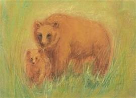 M. v. Zeyl Beer met jonge beer 356