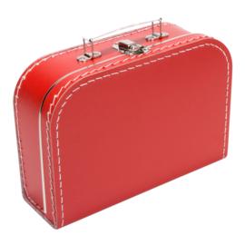 Koffertje rood 25cm