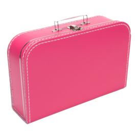 Koffertje fuchsiaroze 35cm