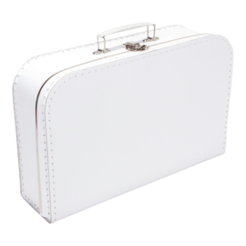 Koffertje wit 35cm