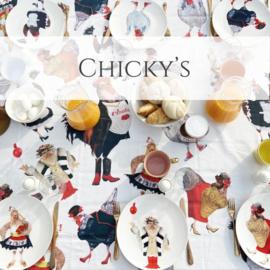 Chicky's - set van 6 dinerborden
