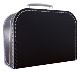 Koffertje zwart 25cm