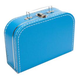 Koffertje aquablauw 25cm