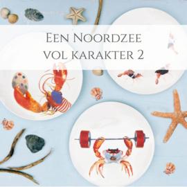 Een Noordzee vol karakter 2 - set van 3 dinerborden