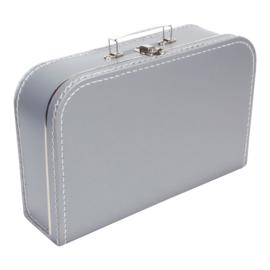 Koffertje zilver 35cm