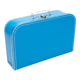 Koffertje aquablauw 35cm