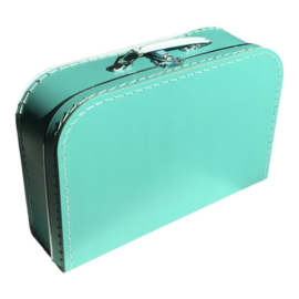 Koffertje turquoise 30cm