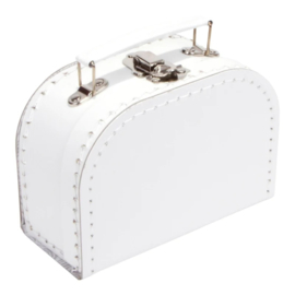 Koffertje wit 16cm