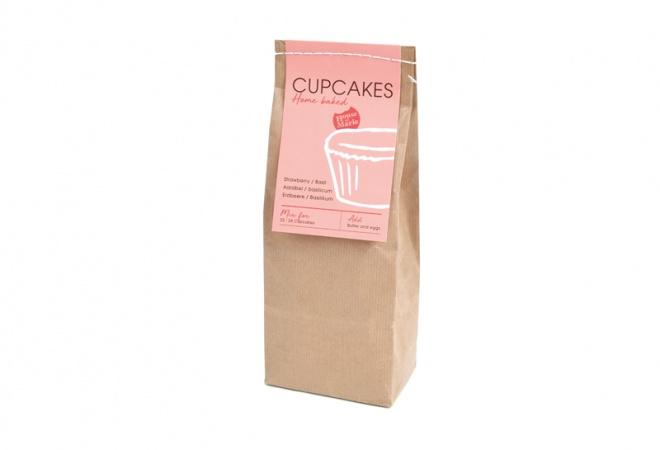 Cupcake Mix AARDBEI/BASILICUM 500g