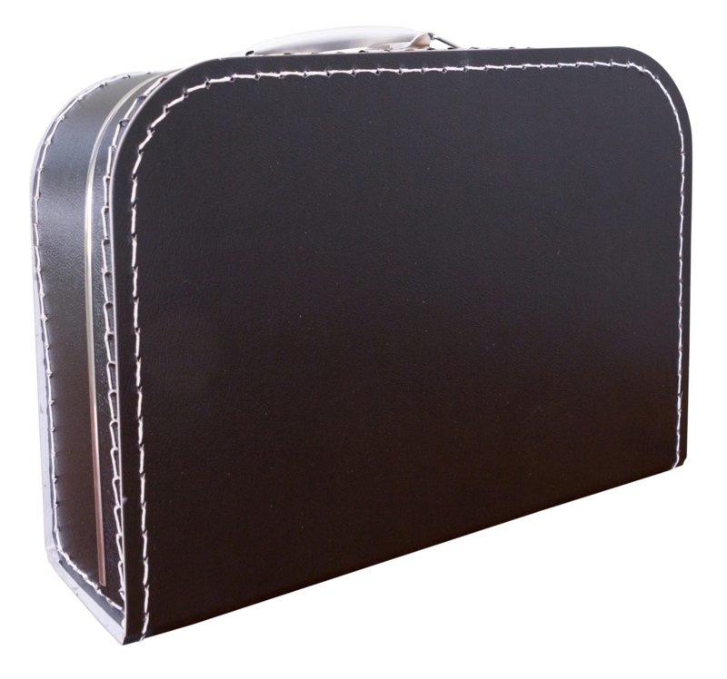 Koffertje zwart 30cm
