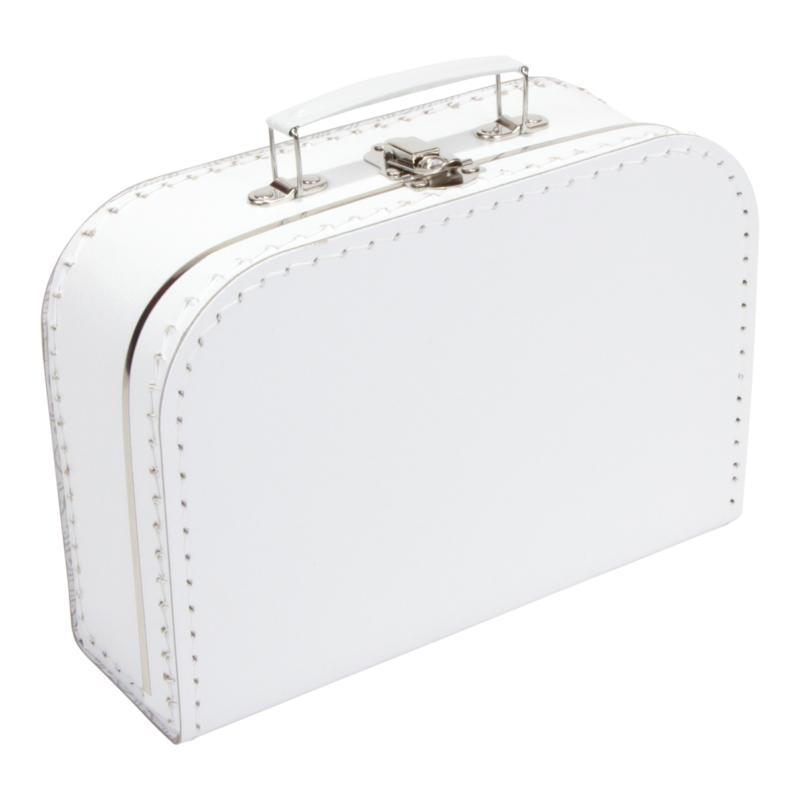 Koffertje wit 25cm