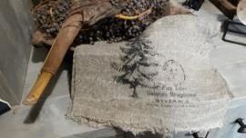 Linnen shabby doek dennenboom