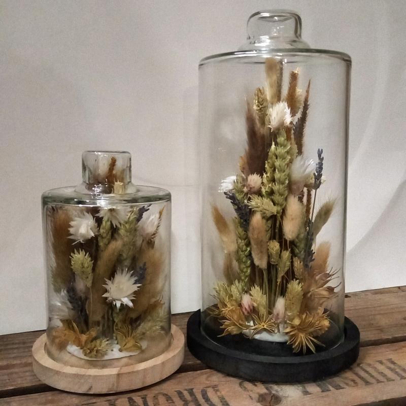 Stolp S met droogbloemen