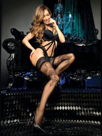 Studio Collants verleidelijke kousen met decoratief motief  zwart