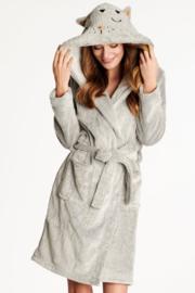 Henderson - badjas met capuchon Lichtgrijs