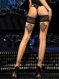 Studio Collants luxe hold-up kousen nude / zwart
