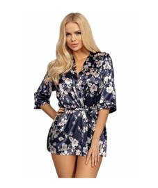 Donna - Donatella- Satijnen Kimono- blauw