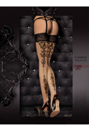 Studio Collants erotische hold-up kousen- zwart
