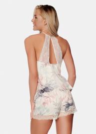 Esotiq- Eleonore- pyjama - wit met bloemen motief