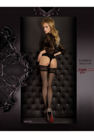 Studio Collants EROTISCHE HOLD-UP KOUSEN 20 den zwart/ grijs
