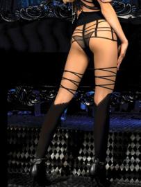 Studio Collants moderne panty nude / zwart