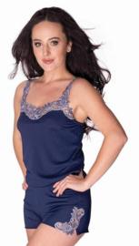 Mewa- Megan- mooie shortama - donkerblauw- vegan zijde