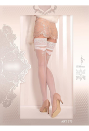 Studio Collants EROTISCHE HOLD-UP KOUSEN 20 den wit
