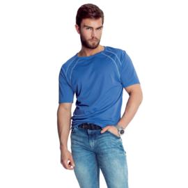 Mewa- T-shirt- Sprint- vegan zijde- blauw