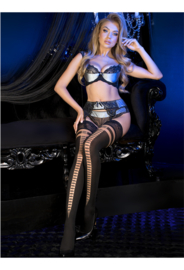 Studio Collants EROTISCHE HOLD-UP KOUSEN 20/60 den zwart
