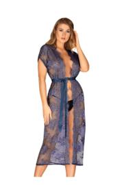 Obsessive Flowlace Kanten lange kimono - Blauw