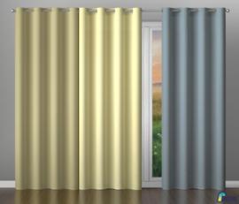 Wisan Gordijn licht grijs 150 x 250 cm, met plooiband, 2 stukken setje: 150 x 250 cm, met plooiband